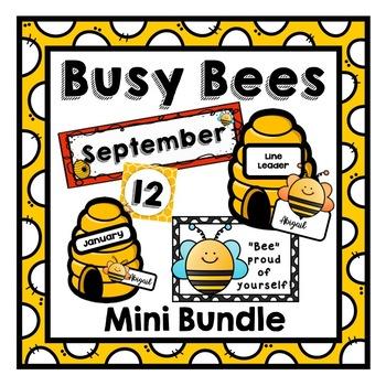 Busy Bees Classroom Theme Mini Bundle