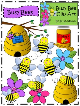 Busy Bees Clip Art {By Busy Bee Clip Art}