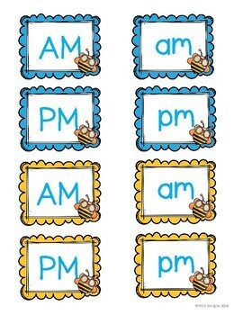 Busy Bees - Clock Labels