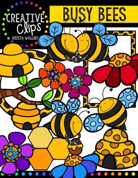Busy Bees {Creative Clips Digital Clipart}