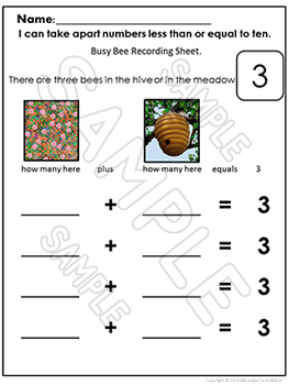 Decomposing Numbers 1-10 Math Centers and Activities