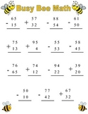 Busy Bees Double Digit Addition and Subtraction