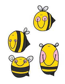 Busy Bees File Folder Game