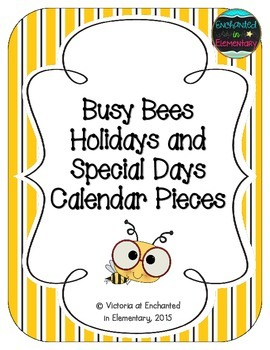 Busy Bees Holiday Calendar Pieces