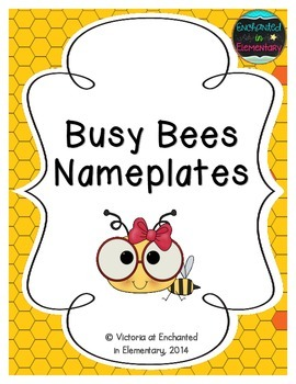 Busy Bees Nameplates