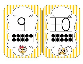 Busy Bees Number Cards 1-20