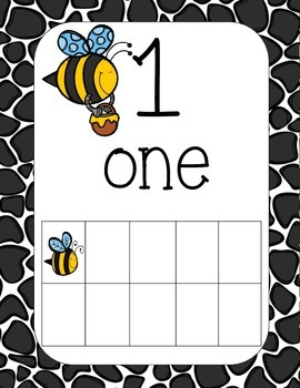 Busy Bees Number Posters 1-20