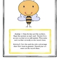 Busy Bees:  Odd and Even Numbers, Least to Greatest