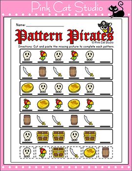 Pattern Pirates Sequencing Worksheets