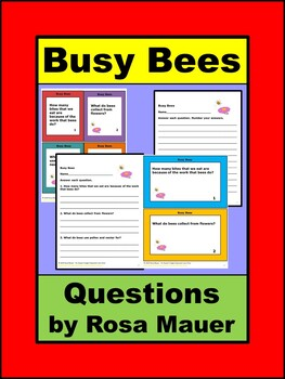 Busy Bees Questions for Lesson Plans and Activities for Kids