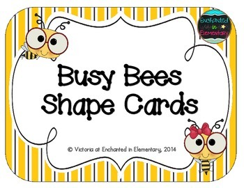 Busy Bees Shape Cards