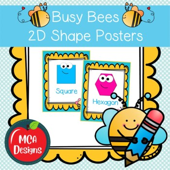 Busy Bees - Shape Posters