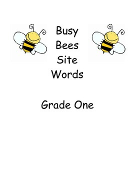 Busy Bees Site Words Worksheets - Grade One