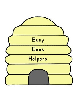 Busy Bees Theme Packet