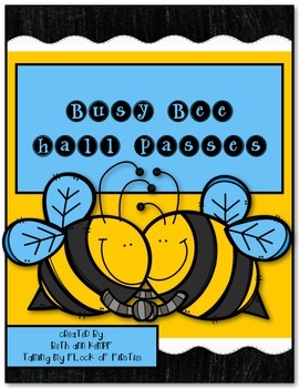 Busy Bees Themed Hall Passes