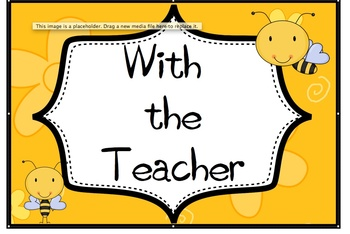 Busy Bees With the Teacher Sign