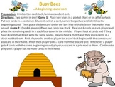 Busy Bees - a beginning sound sort
