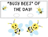 """""""Busy Bees of the Day"""" - Helpers Chart"""