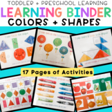 Busy Binder for Toddlers and Preschool - Colors and Shapes