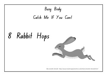 Busy Bodies - Catch me if you can activity cards - PE, sport, games, brain break
