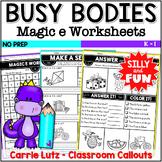 Magic E  | CVCe | Silent e | Worksheets