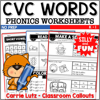Busy Bodies ~ Phonics Fun with Short Vowels {Printable - No Prep}