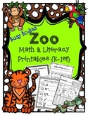 Animals: Math & Literacy Printables, Print & Go~ Morning Work, Homework