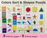 Colors and Shapes Activities | Learning Binders | Busy Boo