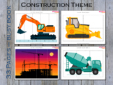 Construction Theme Busy Binder for Toddlers, Preschool Bus