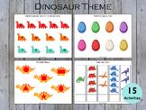 Dinosaur Theme Busy Book Printable, Busy Binder, Toddler B