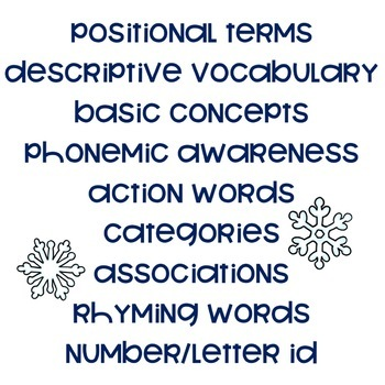 Busy Book for Speech and Language: Winter