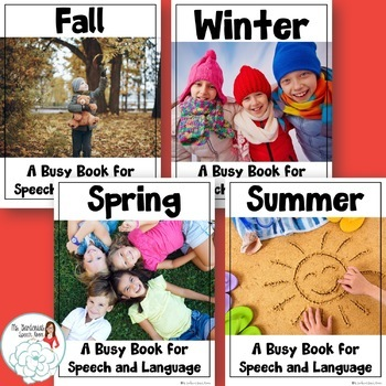 Busy Books for Speech and Language: Seasonal Bundle