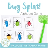 Busy Bug Splat - Letter Recognition Game - QLD FONT
