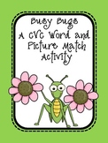 Busy Bugs - An Insect Themed CVC Word and Picture Match Activity