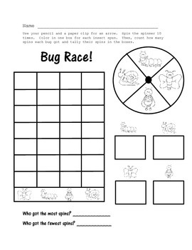 Busy Bugs!  Literacy and Math Printables