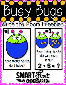 Busy Bugs Write the Room Activities Freebie