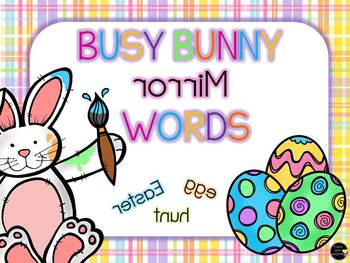 Busy Bunny Mirror Words