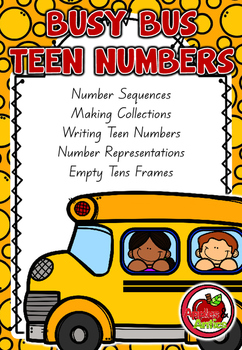 Busy Bus Teen Numbers Math Centres