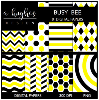 12x12 Digital Paper Set: Busy Bee {A Hughes Design}