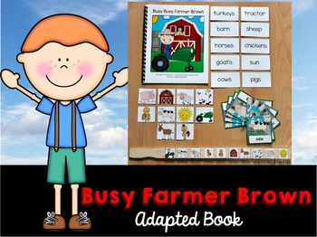 Farm Adapted Book and Vocabulary Activities