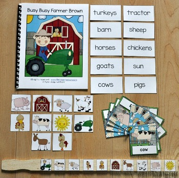 "Farm Adapted Books Unit--""Busy Busy Farmer Brown"""
