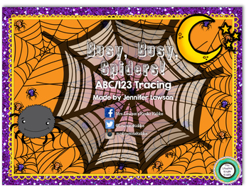 Busy, Busy Spiders - ABC and 123 Tracing