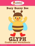 Busy Buzzy Bee Glyph Craft and Worksheets