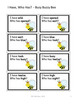 """Busy Buzzy Bee """"I HAVE, WHO HAS?"""" Sight Word Practice for Harcourt Trophies"""