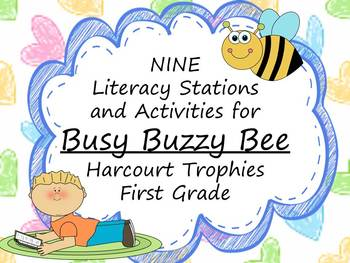 Busy Buzzy Bee Literacy Stations for Harcourt Trophies Fir