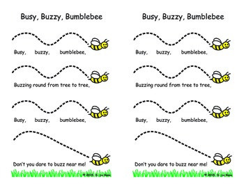 Busy Buzzy Bumblebee Melody Tracking Page