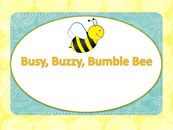 Busy Buzzy Bumblebee Music Lesson pdf