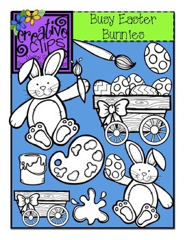 Busy Easter Bunny {Creative Clips Digital Clipart}