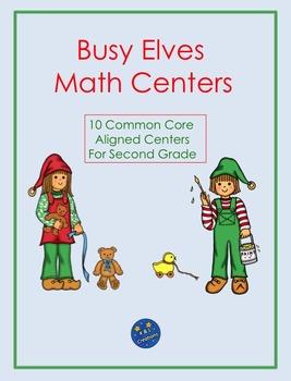 Busy Christmas Elves Math Centers/Task Cards
