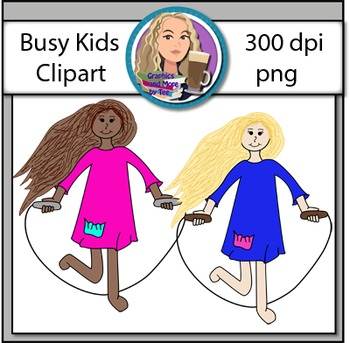 Busy Kids Clipart